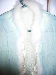 A Jaeger wool and silk bed jacket Circa 1940's