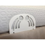 Durable side retainers for adjustable beds   Back Care Beds
